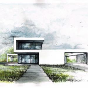Projekt nowoczesnego domu jednorodzinnego w Białymstoku - portfolio pracowni BOHE Architektura