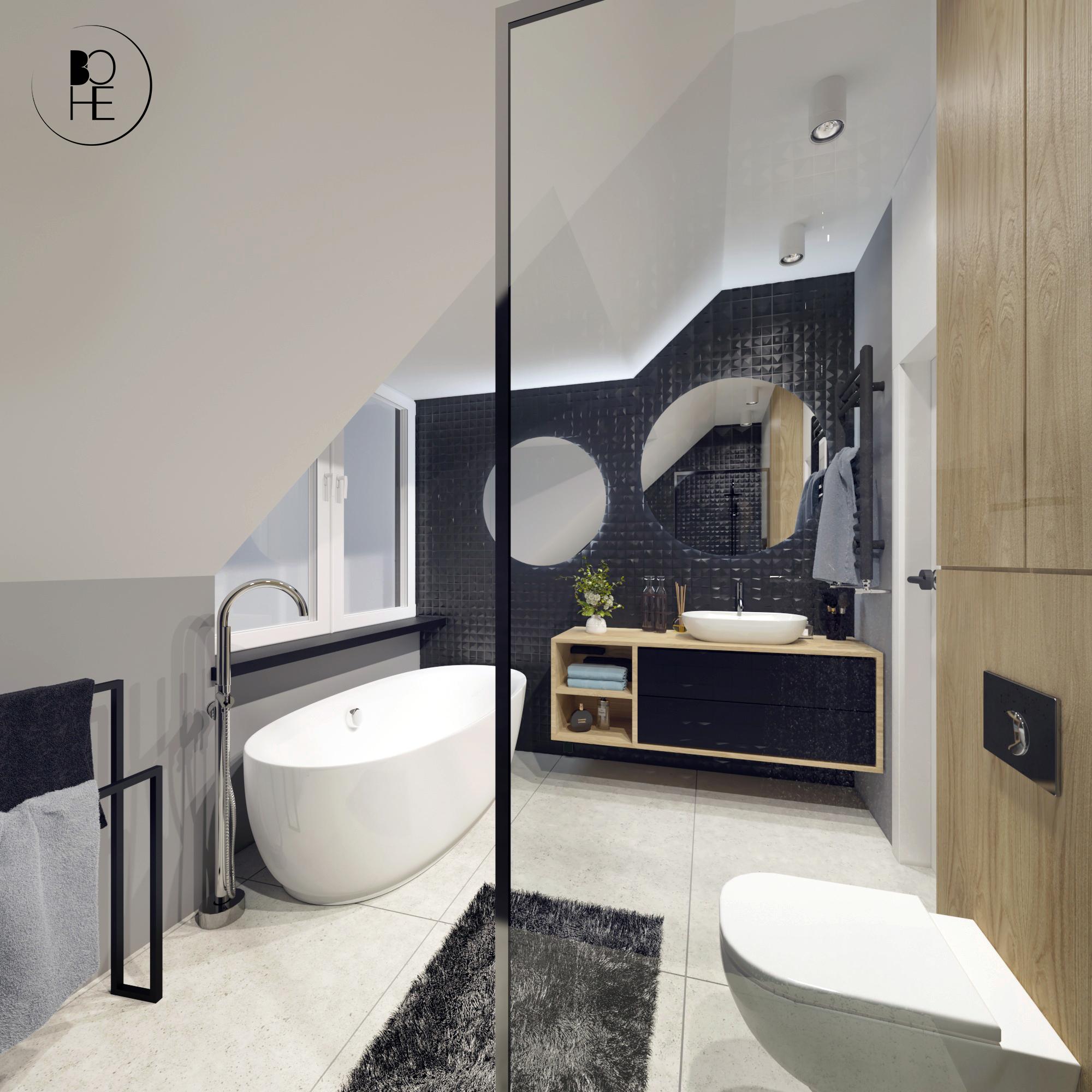 łazienka z wanną i prysznicem warszawa