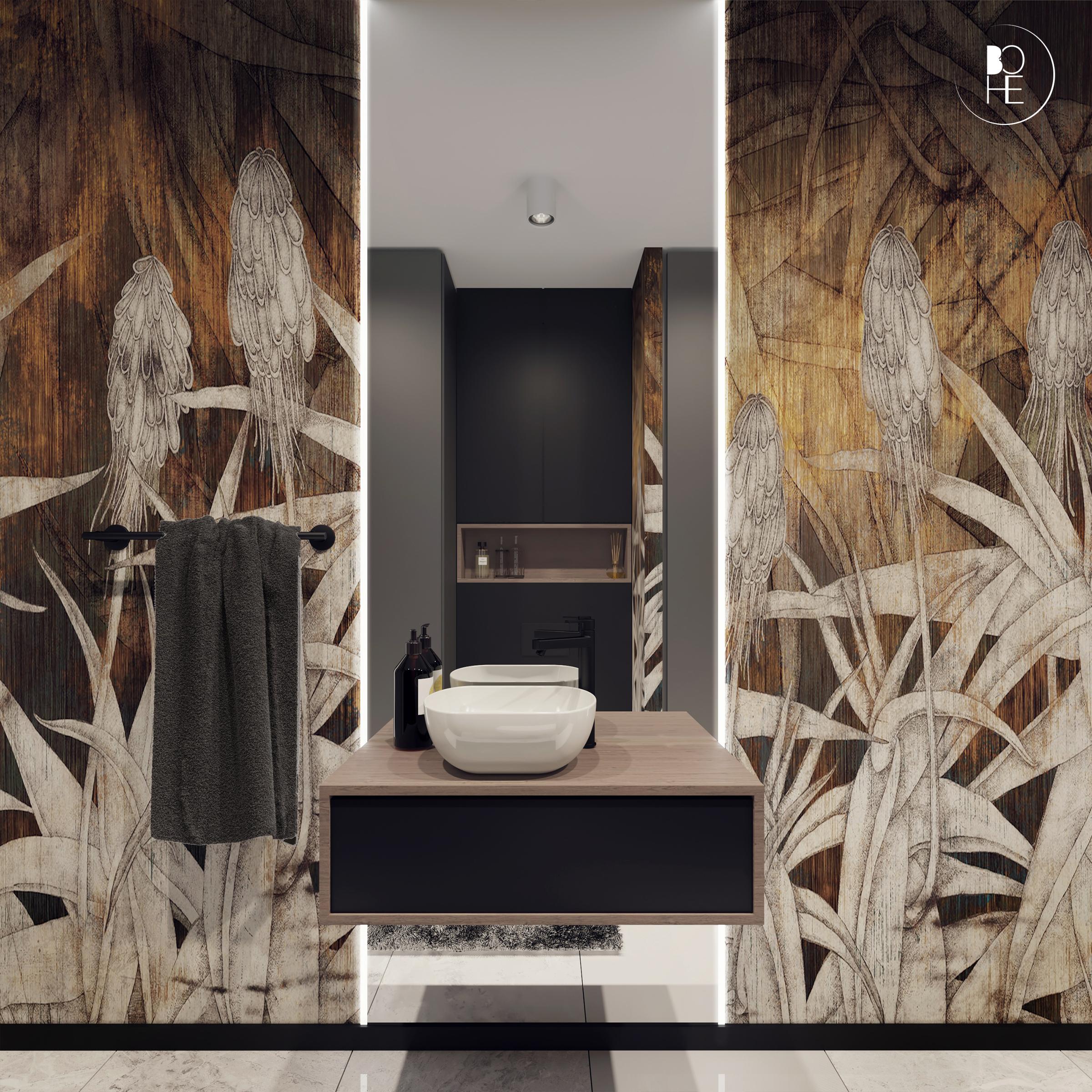 Projekt pomieszczenia gospodarczego z toaleta architekt wnętrz Białystok