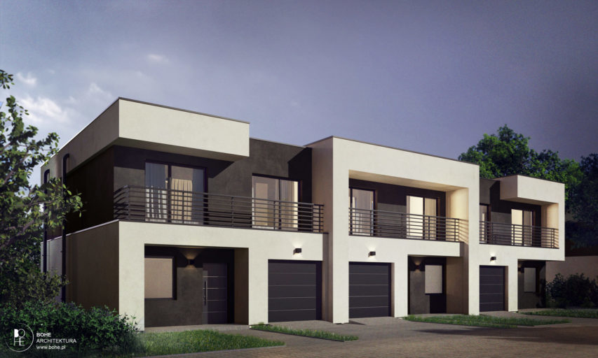 szeregówki z ogródkiem i garażem architekt białystok nowoczesne domy na podlasiu