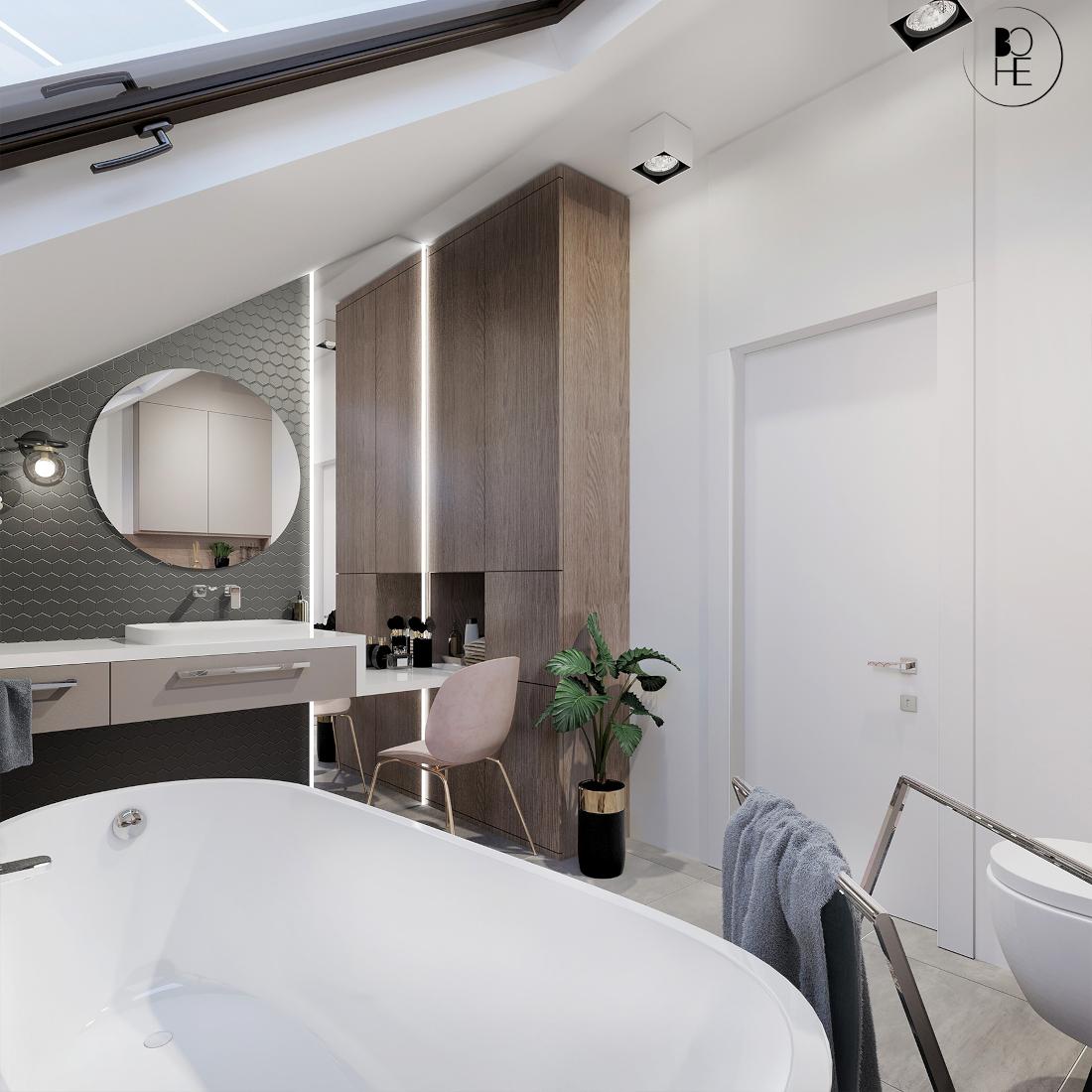 architekt białystok łazienka z toaletką