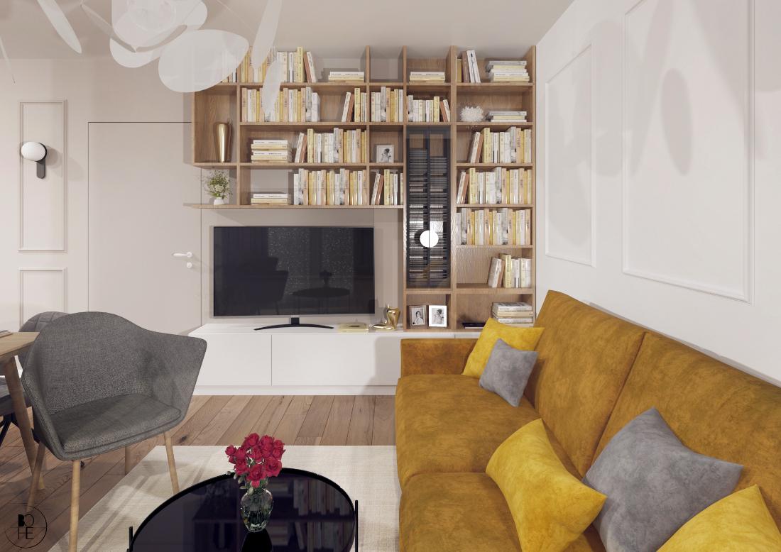 architekt wnętrz białystok projekt salonu