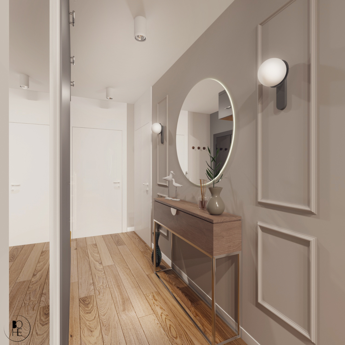 biuro architektoniczne białystok aranżacja wnętrza strefy wejściowej