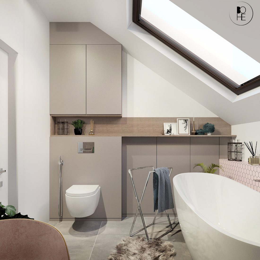 biuro projektowe białystok łazienka na poddaszu