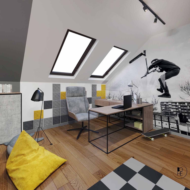biuro projektowe białystok pokój dla dziecka z kącikiem do nauki