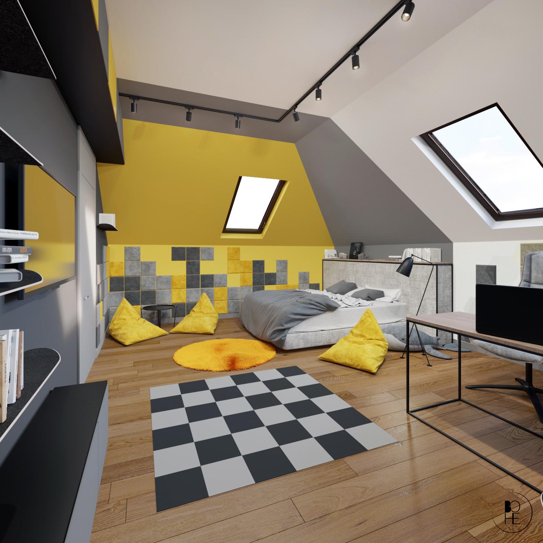 projektant wnętrz białystok pokój dla dziecka z mata do tańczenia