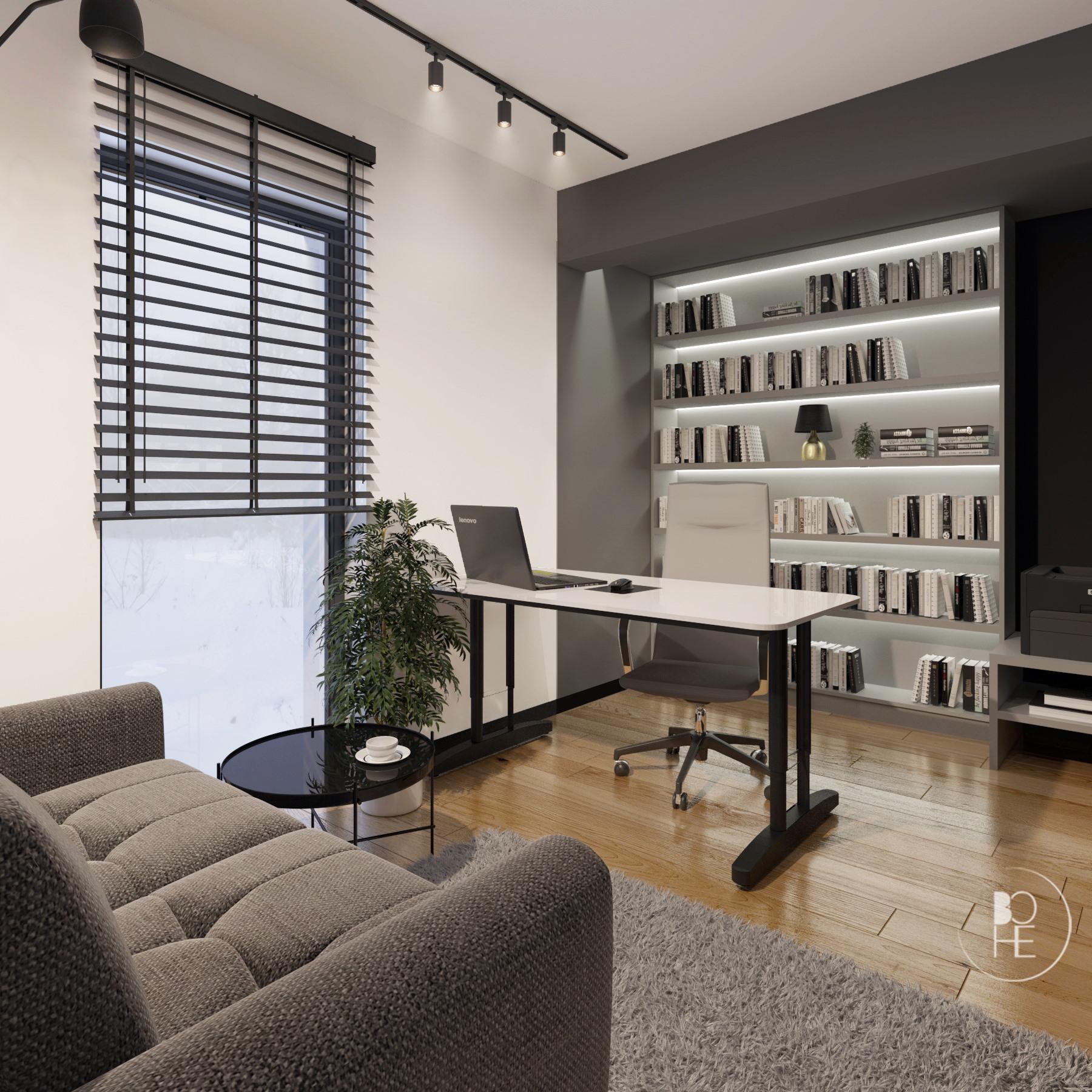 Projekt domowego gabinetu architekt Łódź