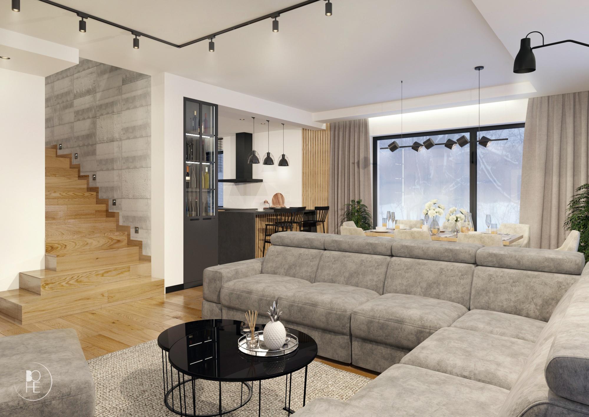 loftowy salon architekt Łódź