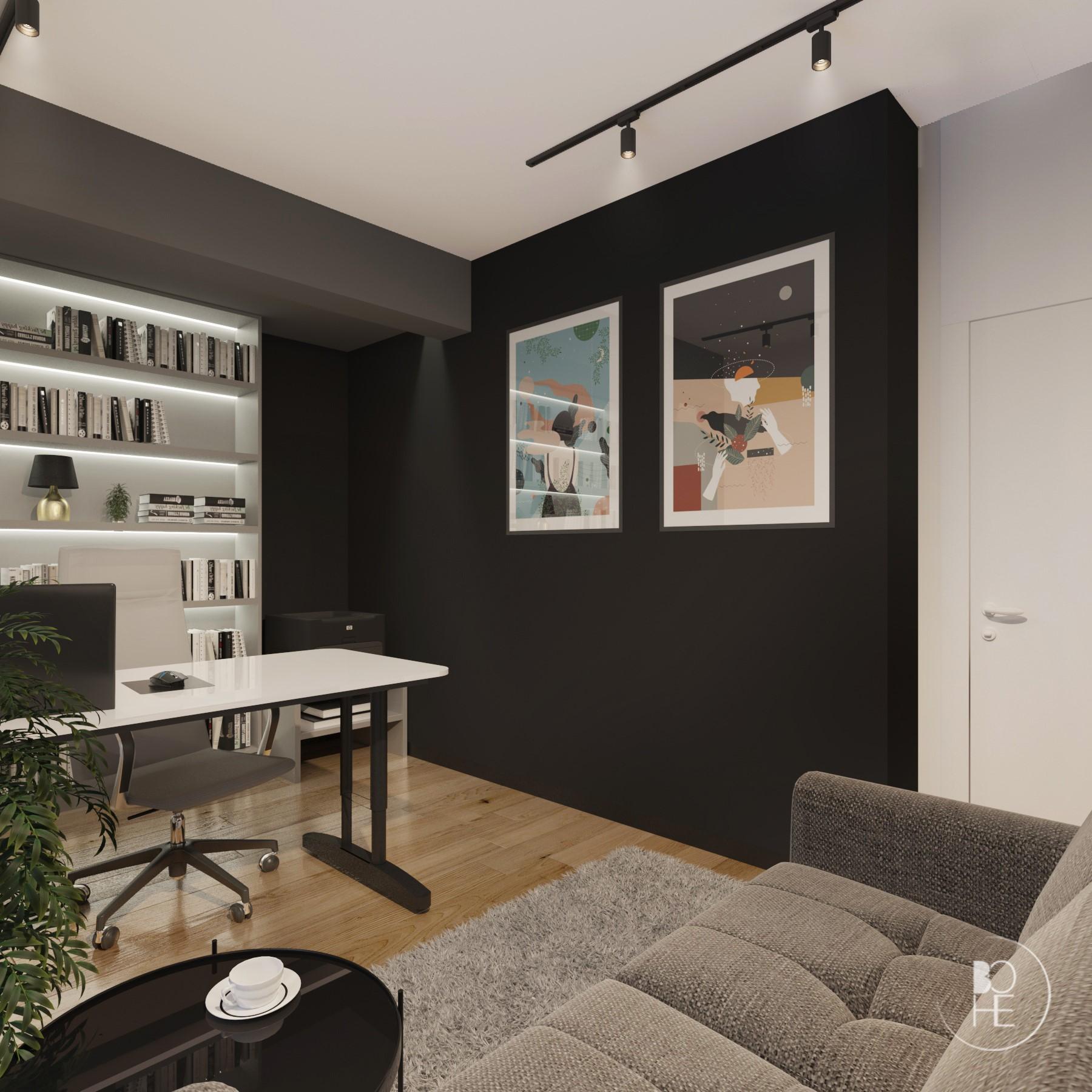 projekt biura domowego projektant wnętrz Łódź