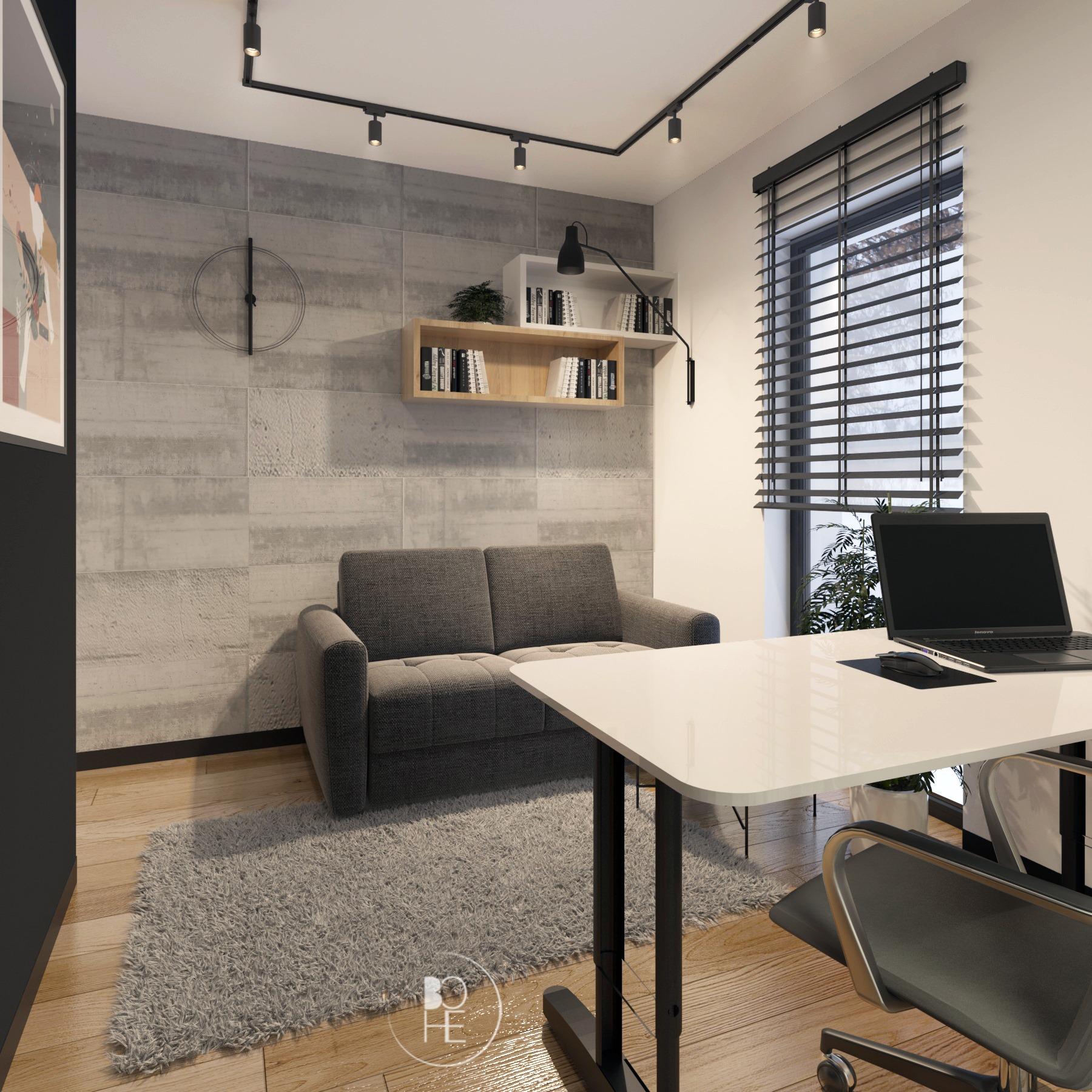 projekt wnętrza gabinetu biuro projektowe Łódź