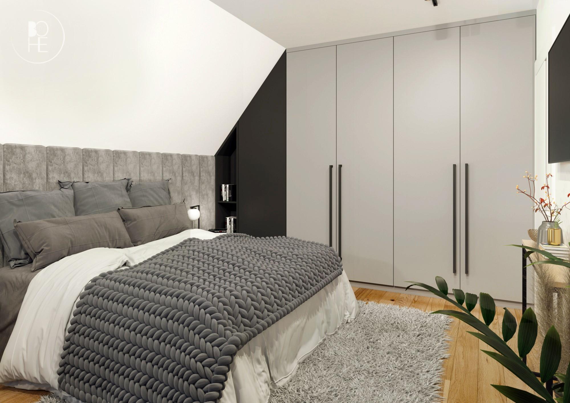 duża sypialnia architekt Łódź