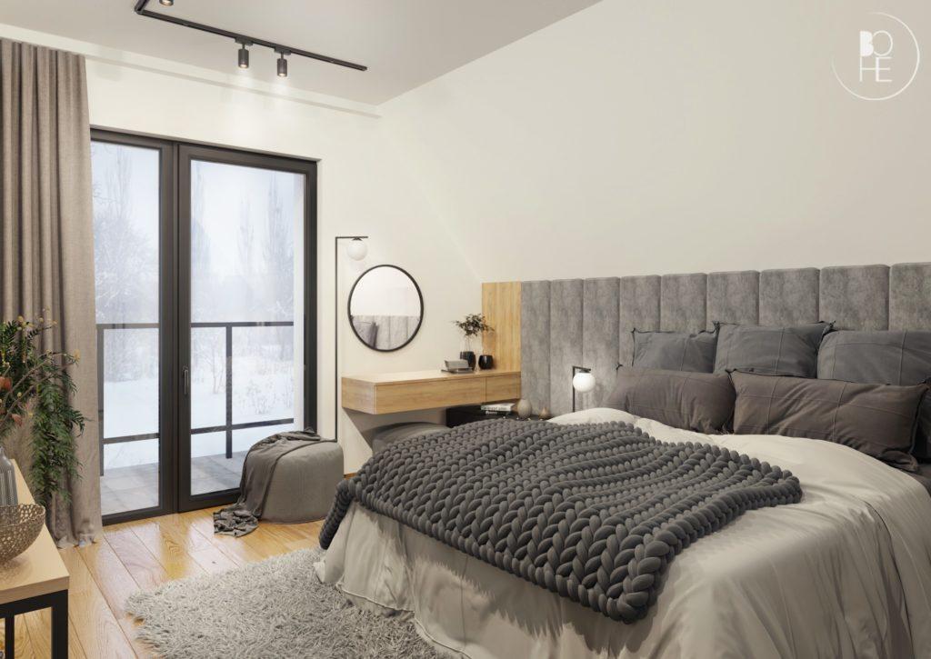 projekt dużej sypialni architekt Łódź