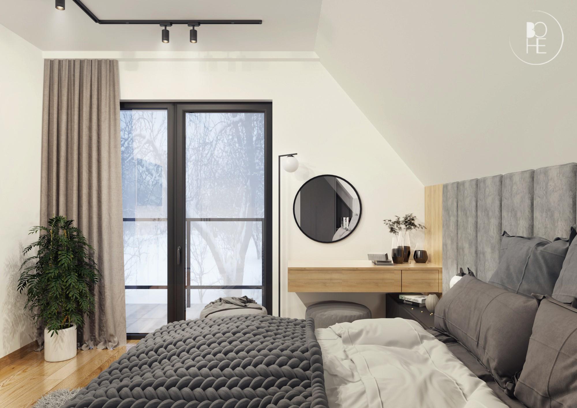 sypialnia z toaletką architekt Łódź