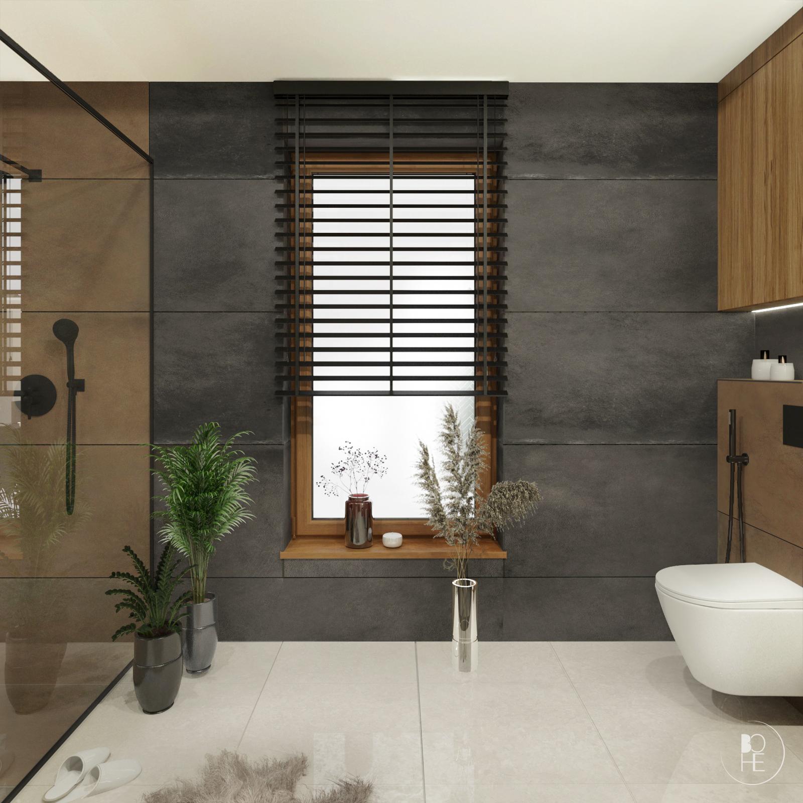 nowoczesna łazienka domowa strefa relaksu w ziemistych kolorach warszawa kraków toruń architekt wnętrz białystok