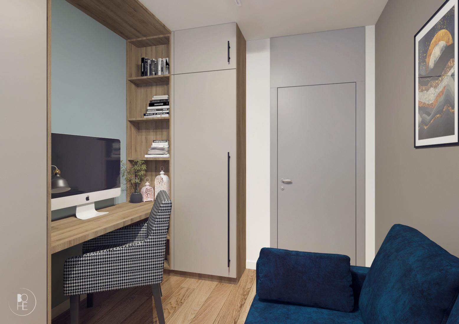 projekt małego domowego biura warszawa 1