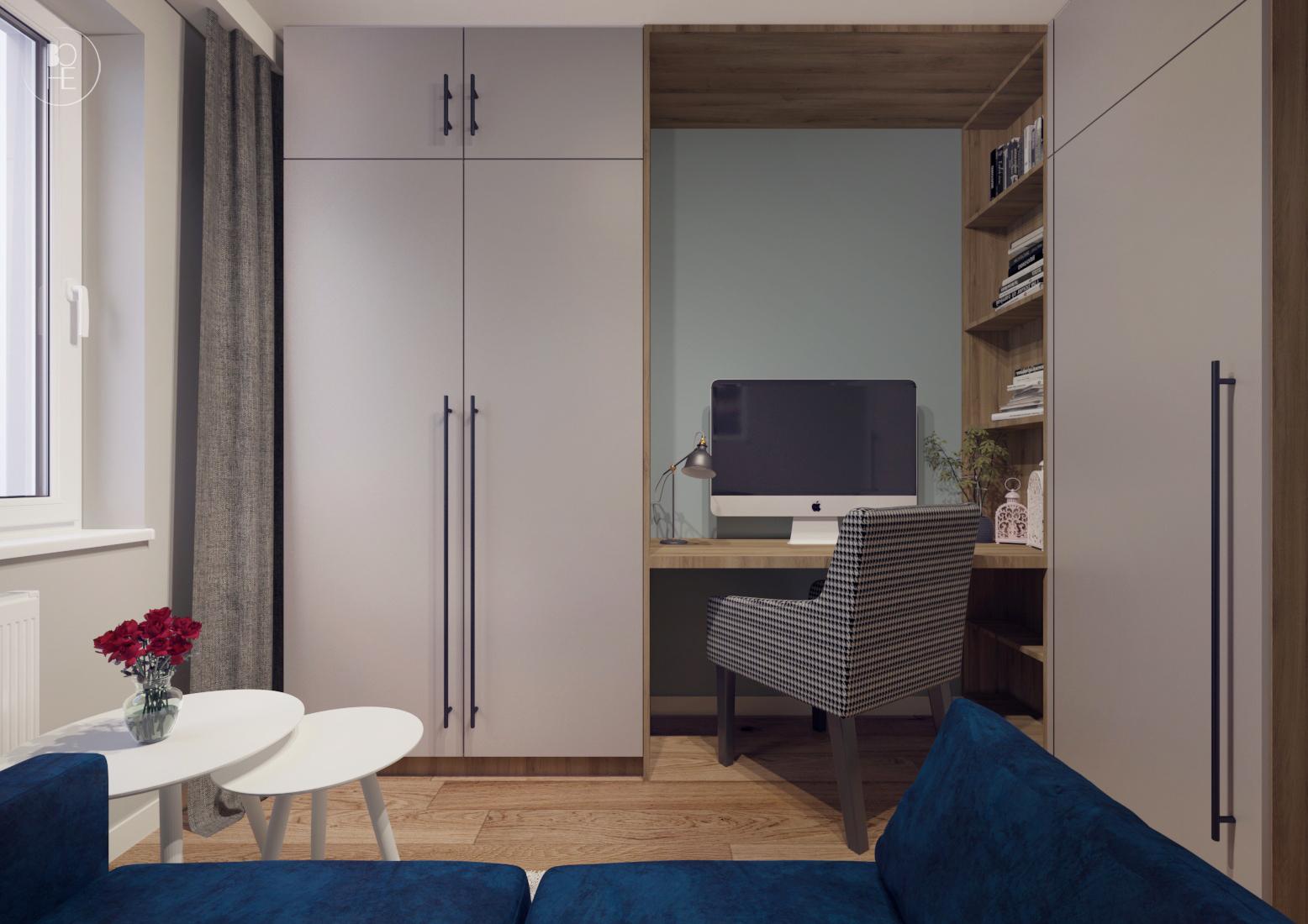 projekt małego domowego biura warszawa 2