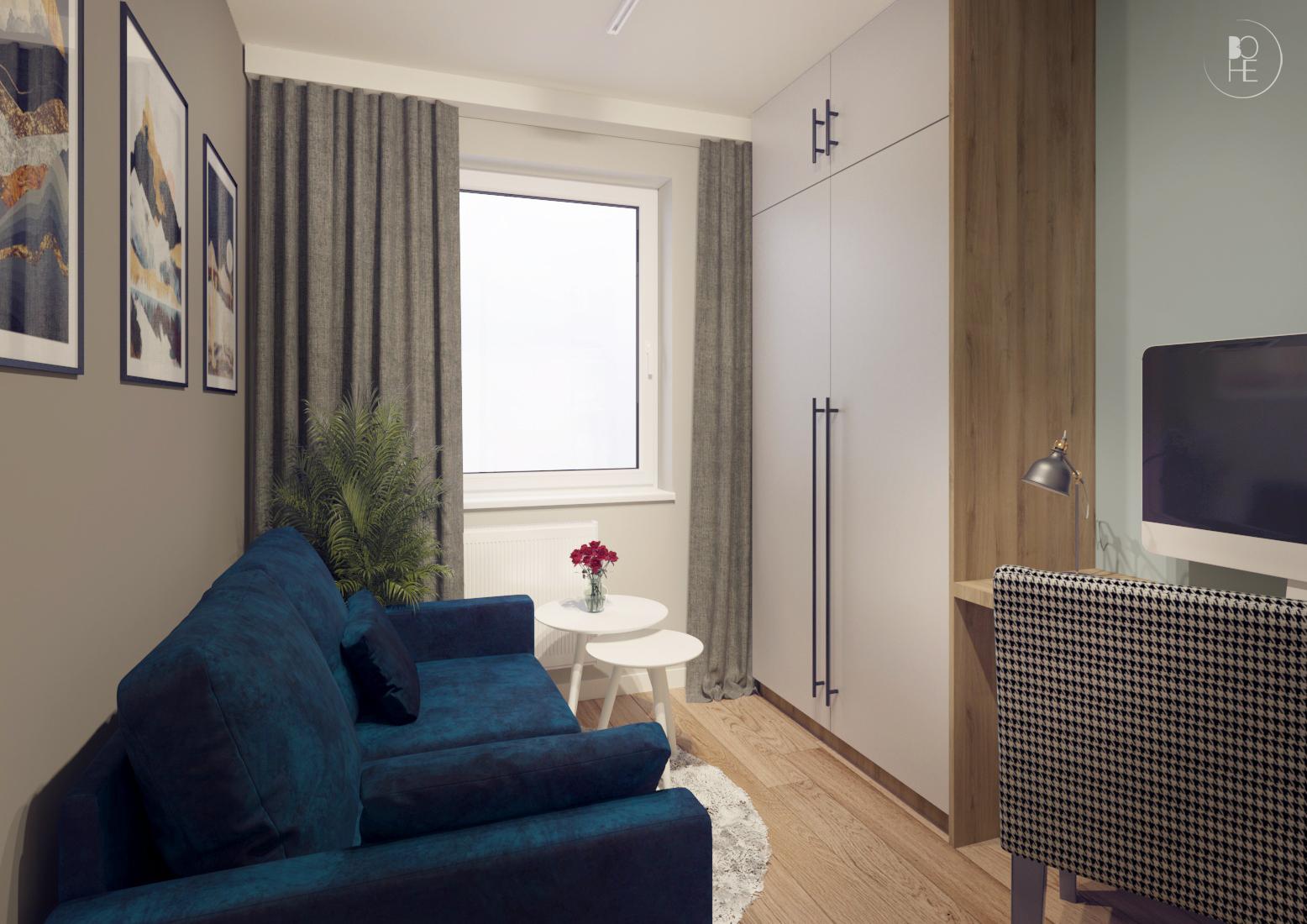 projekt małego domowego biura warszawa 3