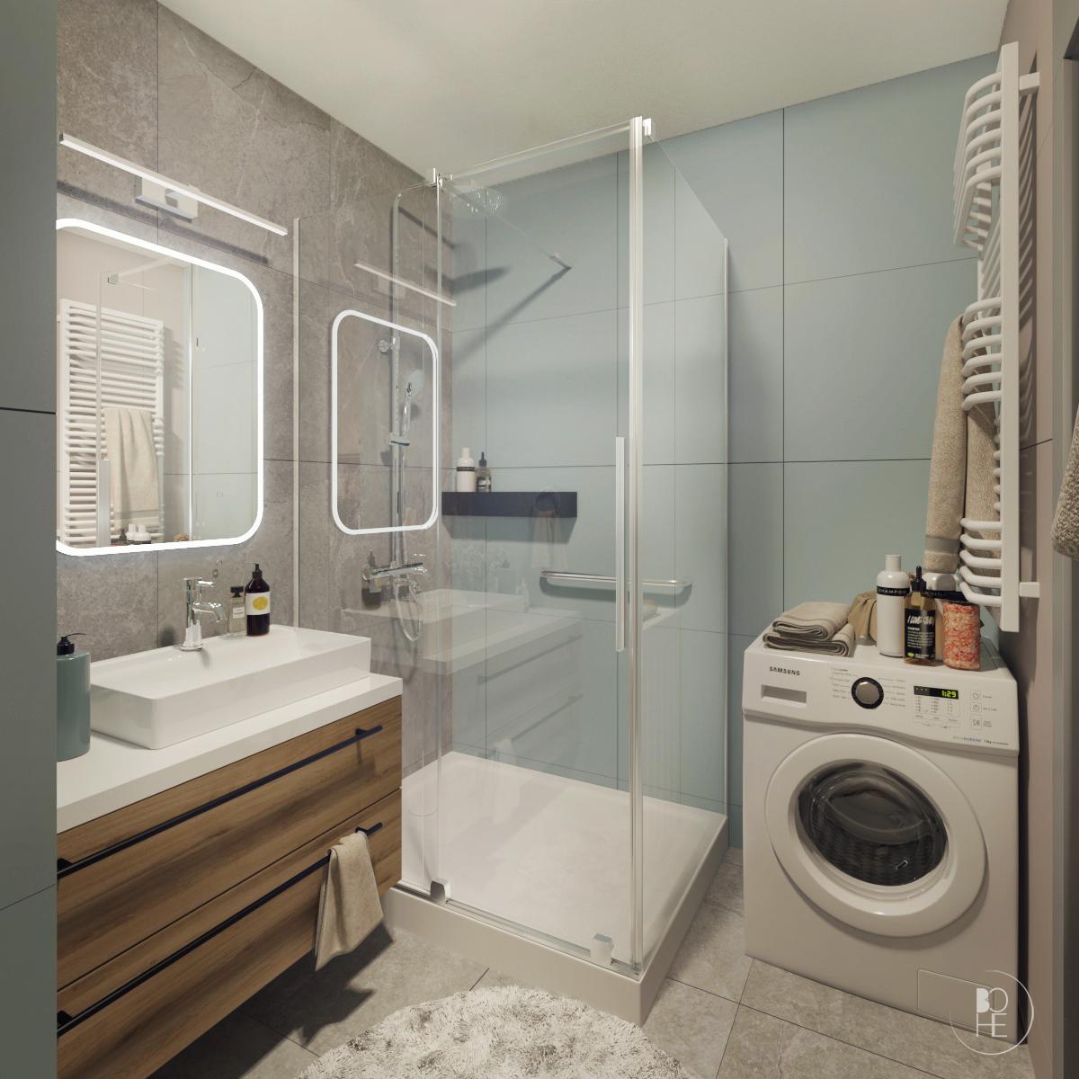 projekt małej łazienki białystok 1