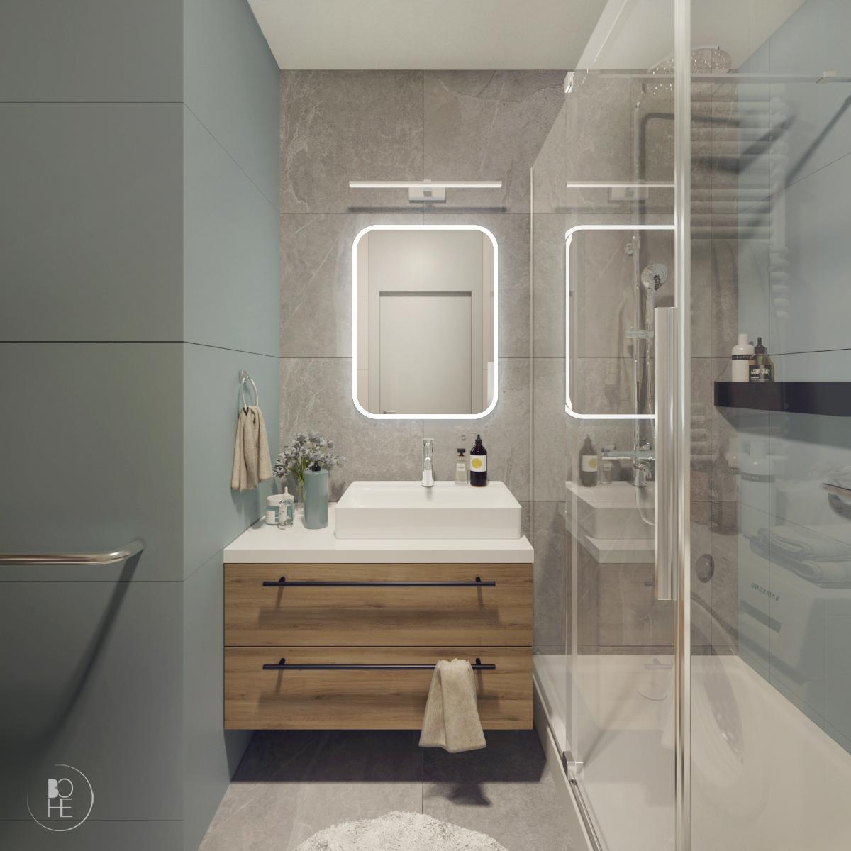 projekt małej łazienki białystok 2