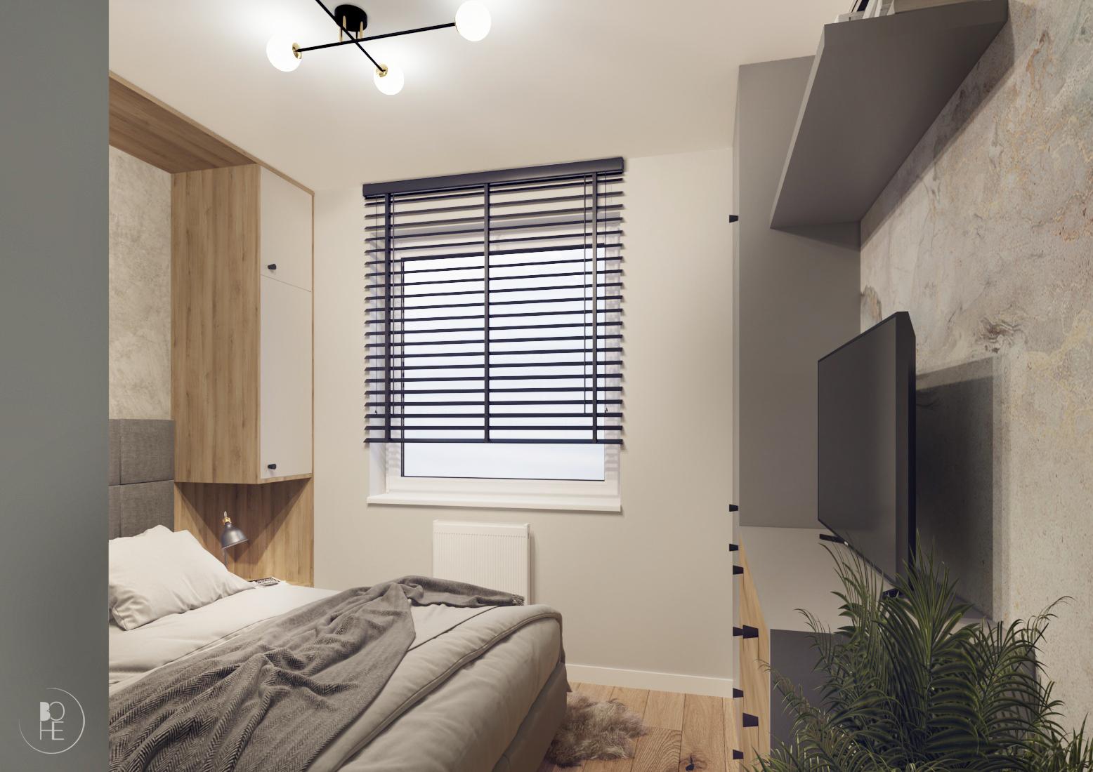 projekt małej sypialni poznań 1