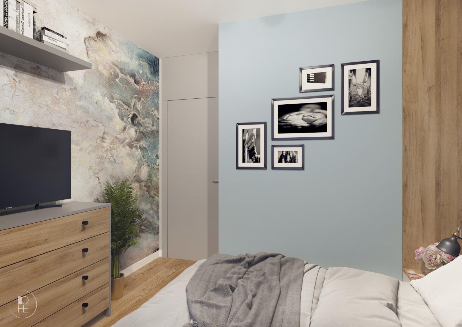 projekt małej sypialni poznań 5