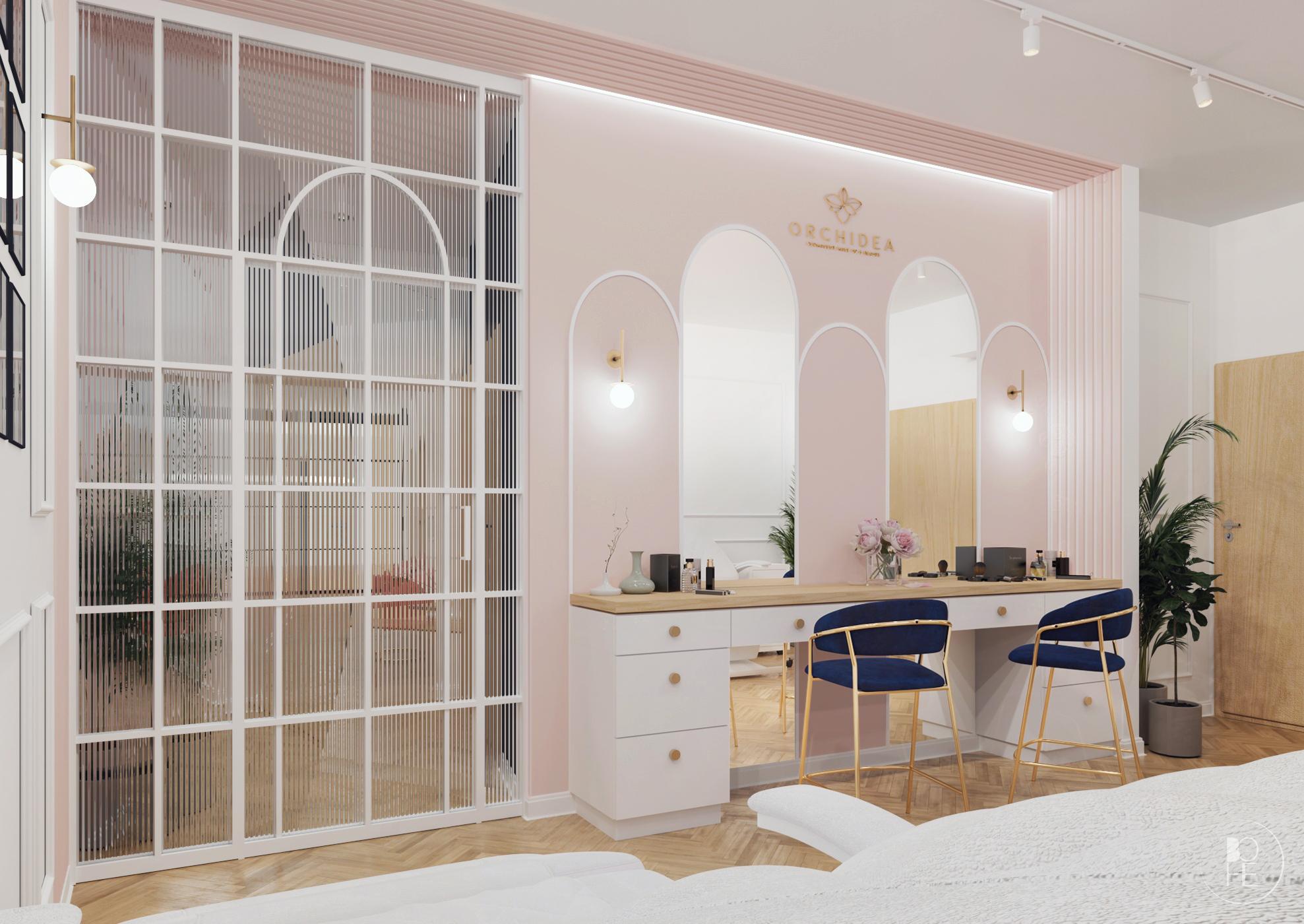 projekt salonu kosmetycznego wrocław 1